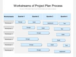 Workstreams Of Project Plan Process