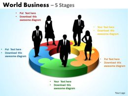 World Business diagram 5 Stages 19