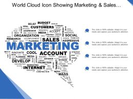 World Cloud Icon Showing Marketing And Sales Concept