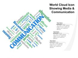 World Cloud Icon Showing Media And Communication