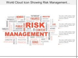 World Cloud Icon Showing Risk Management And Financial Strategies