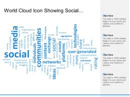 World Cloud Icon Showing Social Media And Networking