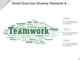 World Cloud Icon Showing Teamwork And Business Programs