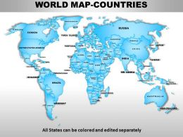 World Continents PowerPoint Maps