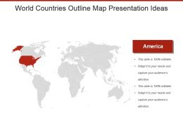 World Countries Outline Map Presentation Ideas