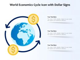 World Economics Cycle Icon With Dollar Signs