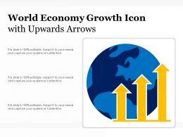 World Economy Growth Icon With Upwards Arrows