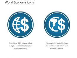 World Economy Icons Presentation Backgrounds