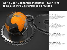 World Gear Mechanism Industrial Powerpoint Templates Ppt Backgrounds For Slides