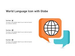 World Language Icon With Globe