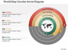 world_map_circular_arrow_diagram_powerpoint_template_Slide01