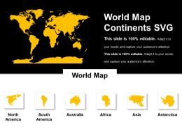 World Map Continents Svg