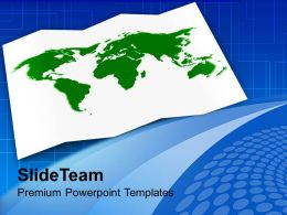 World Map Global Business Powerpoint Templates Ppt Themes And Graphics 0113