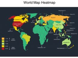 World Map Heatmap