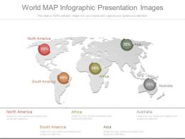 World Map Infographic Presentation Images