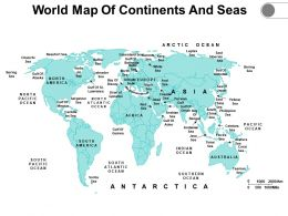 World Map Of Continents And Seas