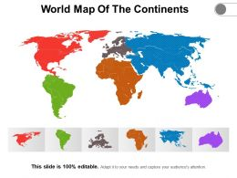 World Map Of The Continents