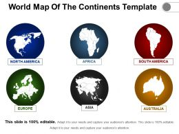World Map Of The Continents Template