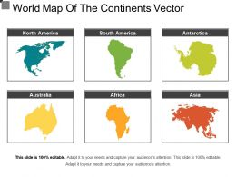 World Map Of The Continents Vector