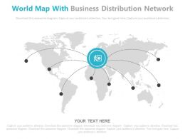 World Map With Business Distribution Network Powerpoint Slides
