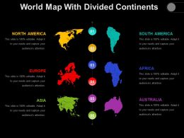 World Map With Divided Continents