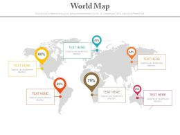 world_map_with_percentage_indication_for_financial_management_powerpoint_slides_Slide01