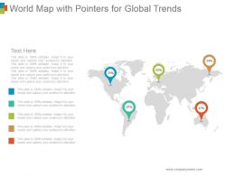World Map With Pointers For Global Trends