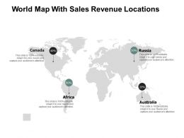 World Map With Sales Revenue Locations A113 Ppt Powerpoint Presentation Gallery Show