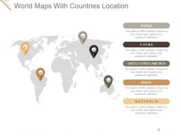 World Maps With Countries Location Presentation Diagrams