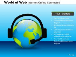World Of Web Internet Online Connected Powerpoint Slides And Ppt Templates DB
