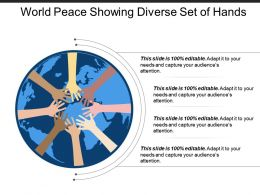 World Peace Showing Diverse Set Of Hands