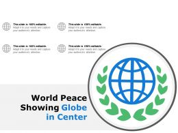 World Peace Showing Globe In Center