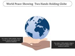 World Peace Showing Two Hands Holding Globe