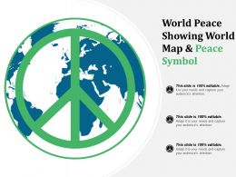 World Peace Showing World Map And Peace Symbol