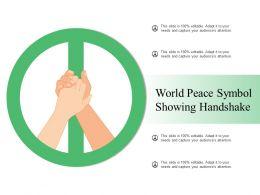 World Peace Symbol Showing Handshake