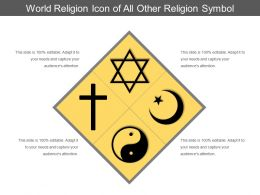 World Religion Icon Of All Other Religion Symbol