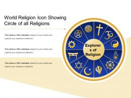World Religion Icon Showing Circle Of All Religions