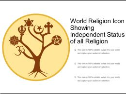 World Religion Icon Showing Independent Status Of All Religion