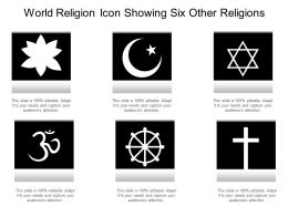 World Religion Icon Showing Six Other Religions