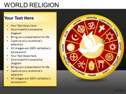 World Religion Powerpoint Presentation Slides DB