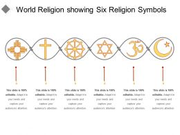 World Religion Showing Six Religion Symbols
