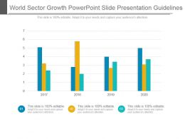 World Sector Growth Powerpoint Slide Presentation Guidelines