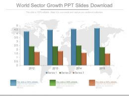 World Sector Growth Ppt Slides Download