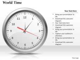 World Time Powerpoint Template Slide