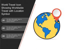 World Travel Icon Showing Worldwide Travel With Location Symbol