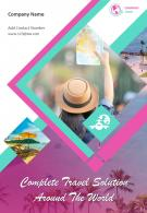 World Travel Services Four Page Brochure Template