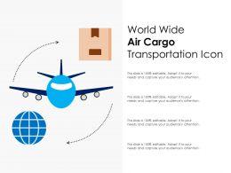 World Wide Air Cargo Transportation Icon