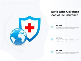World Wide Coverage Icon Of Life Insurance
