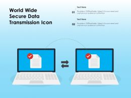 World Wide Secure Data Transmission Icon