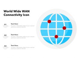 World Wide WAN Connectivity Icon